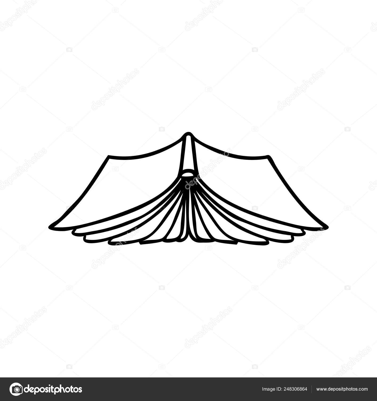 Dessin Au Trait Doodle D Un Livre Ouvert Image Vectorielle