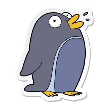 """Картина, постер, плакат, фотообои """"мультипликационный пингвин птицы цветы"""", артикул 248516960"""