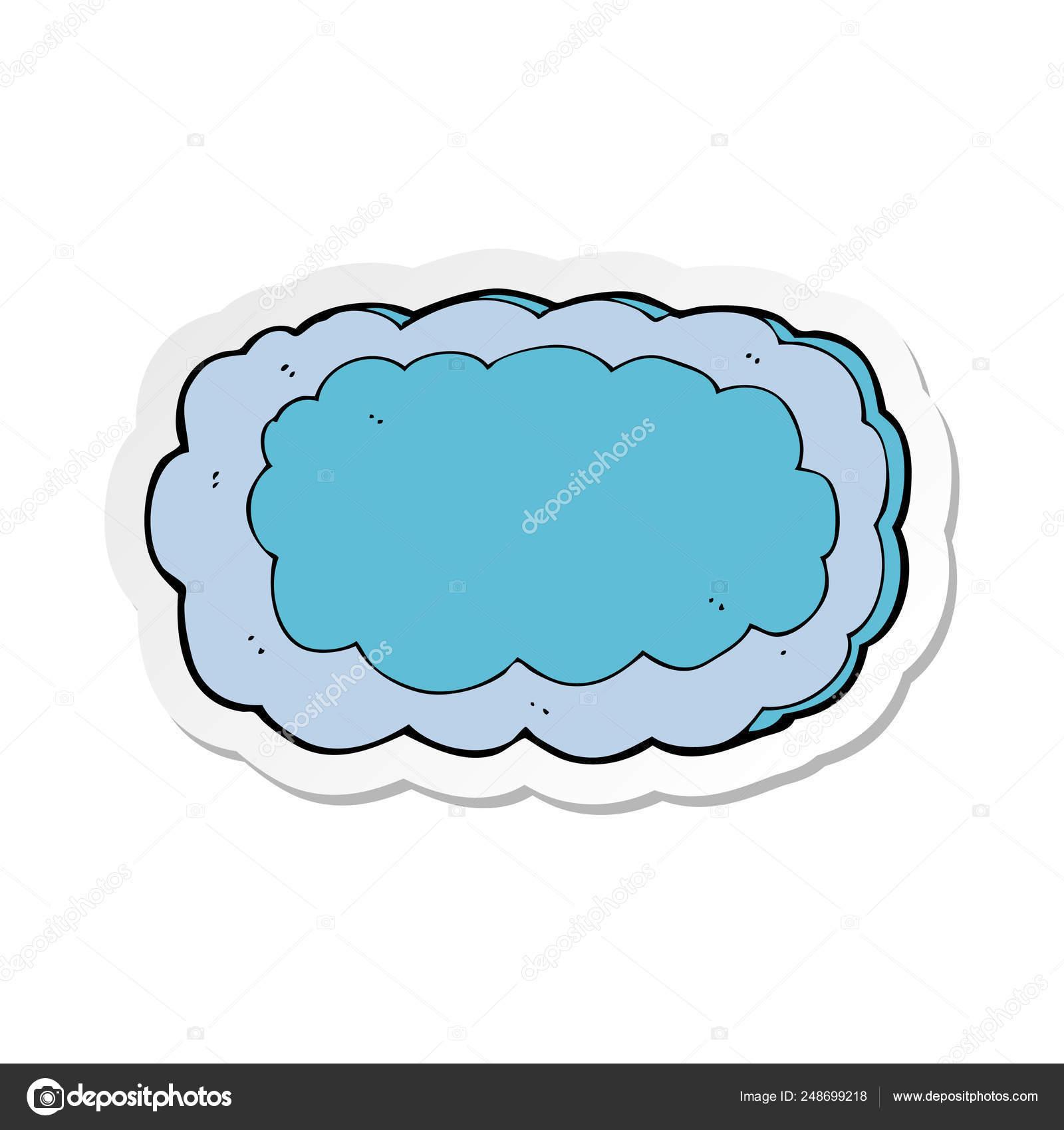 Etiqueta Símbolo Nuvem Desenho Animado — Vetores de Stock © lineartestpilot  #248699218