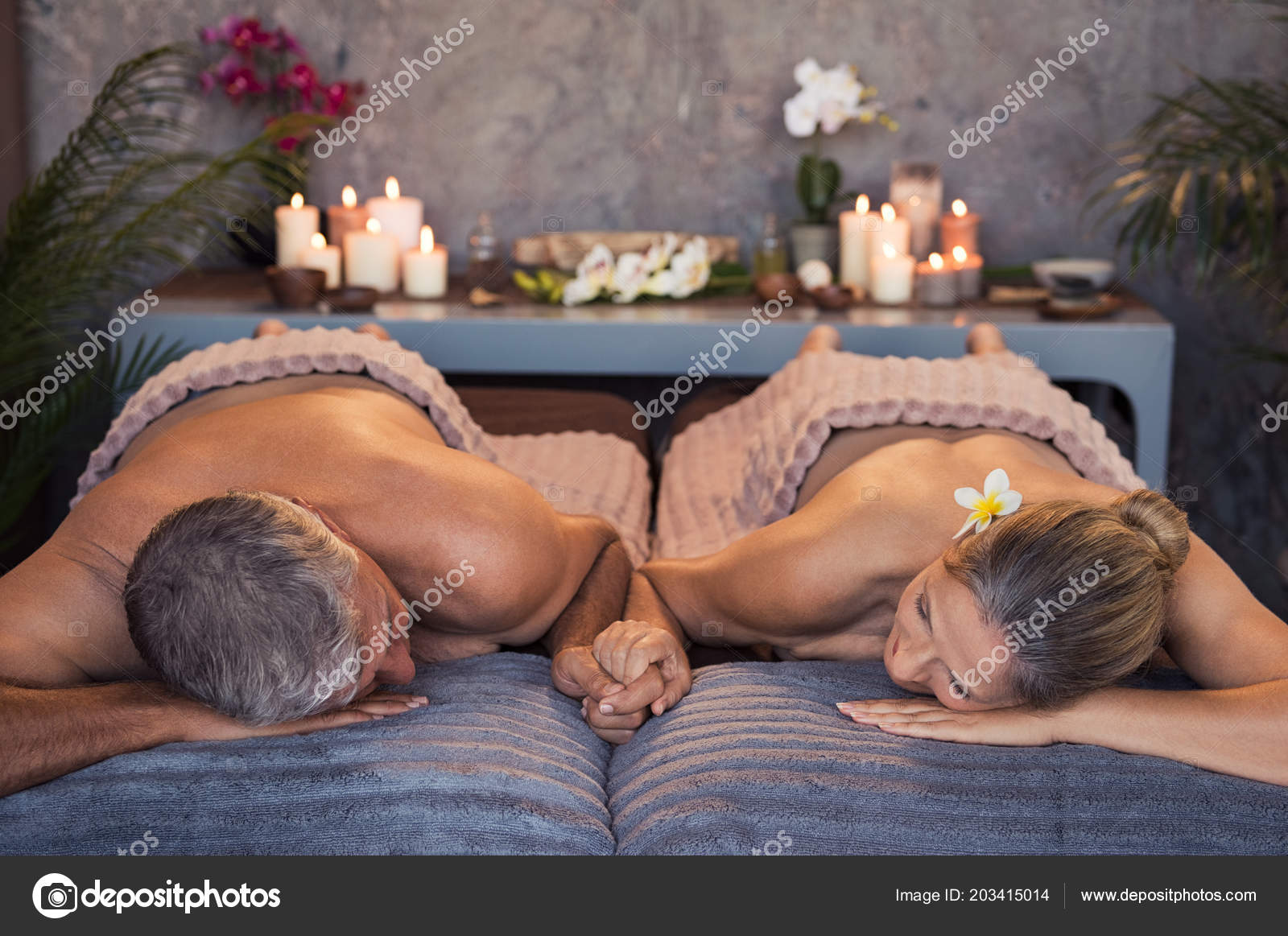 Couples spa naked