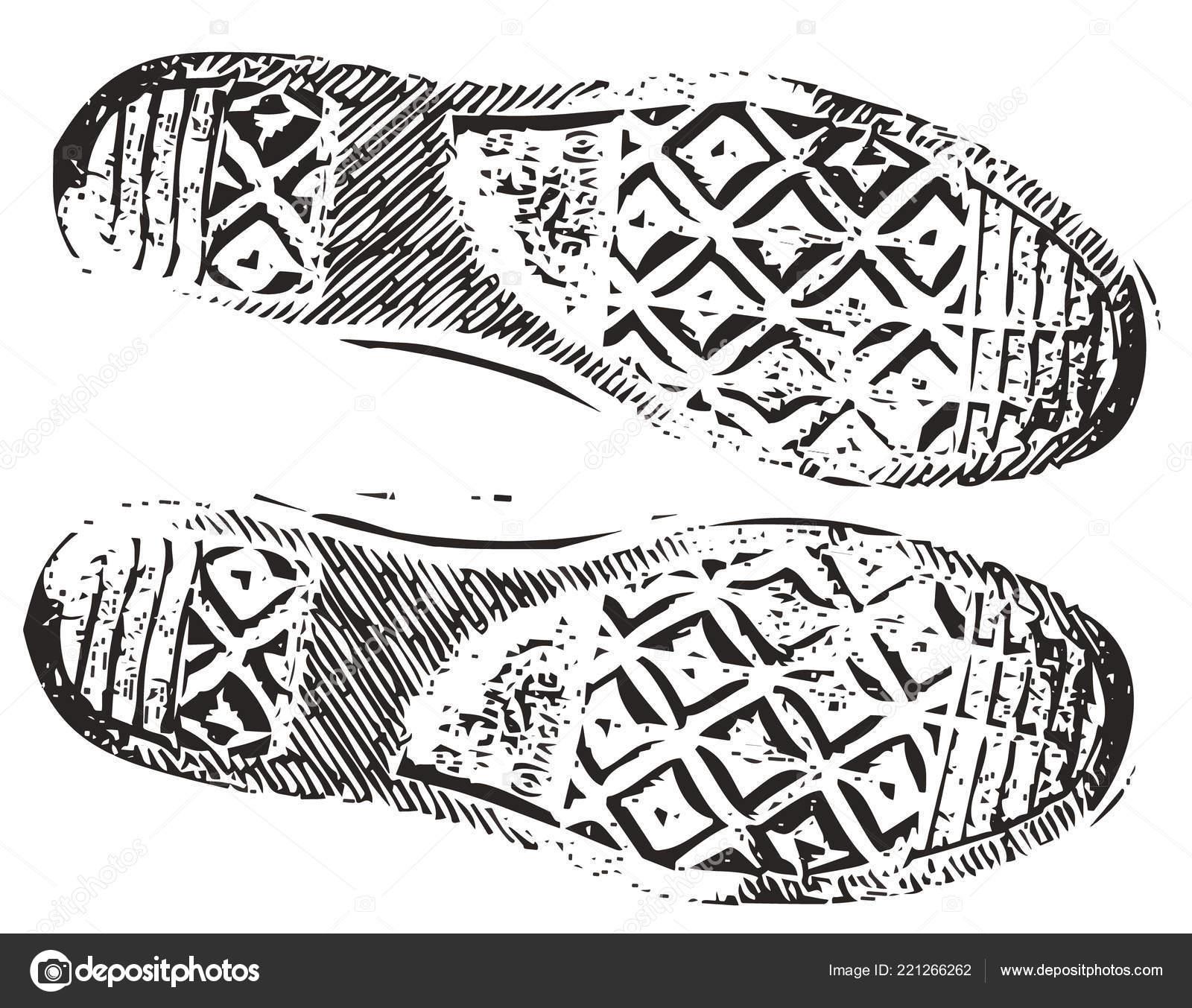 Jp Vector Zapatilla Deporte © Sucio lihina — Grunge Stock Huella De 13KcFTlJ