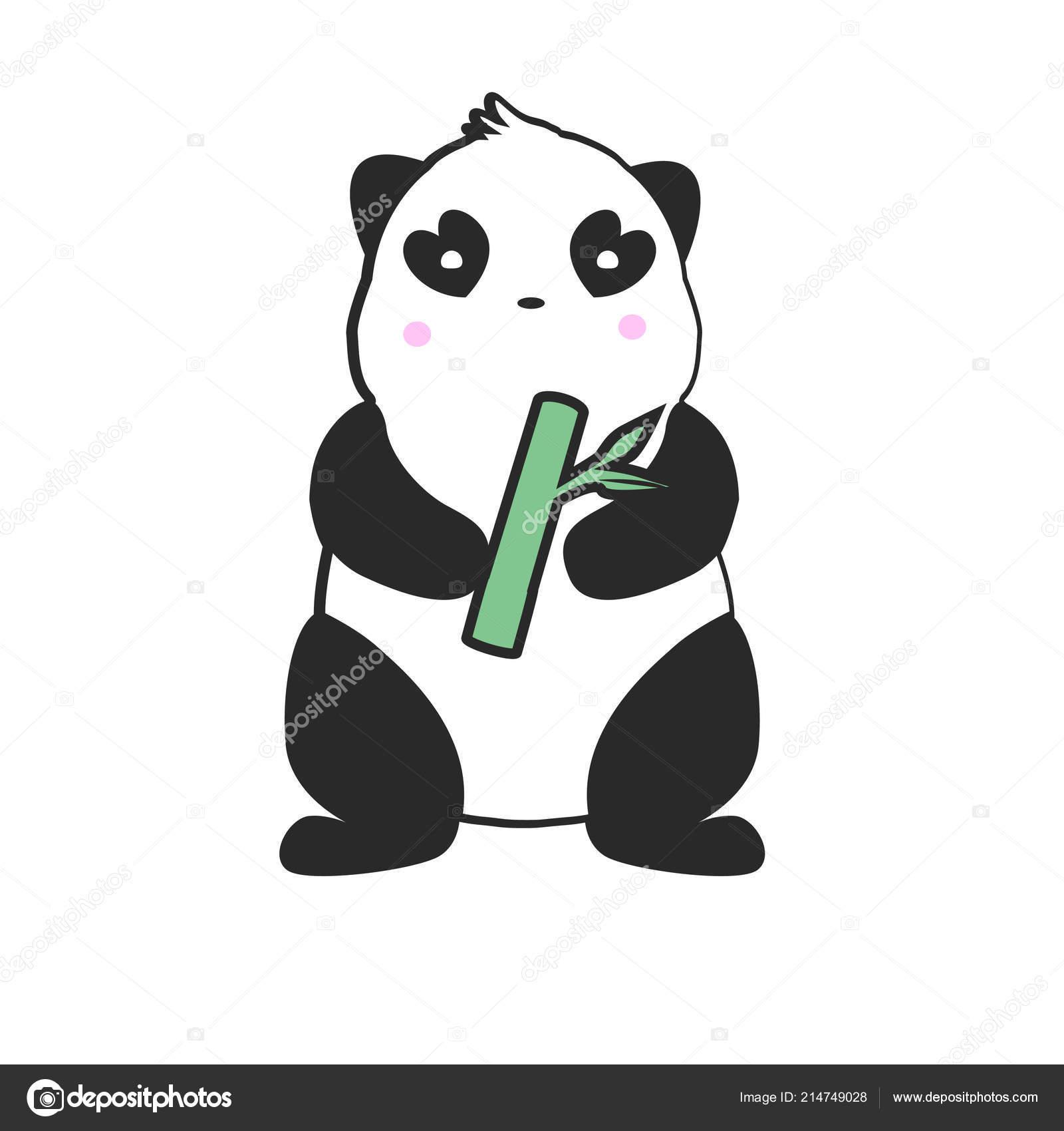 Mascotte Panda Mignon Création De Logo Dessin Simple De