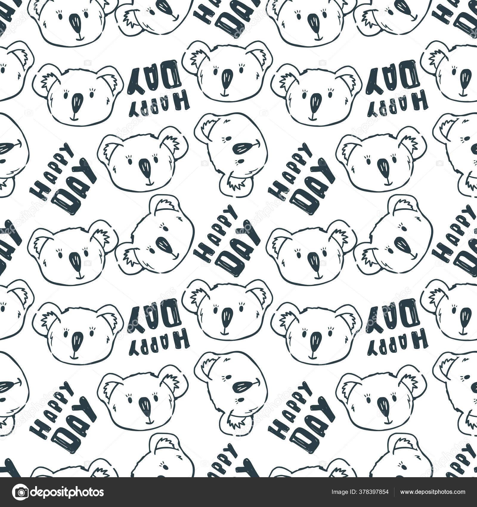 depositphotos 378397854 stock illustration vector seamless pattern cute outline