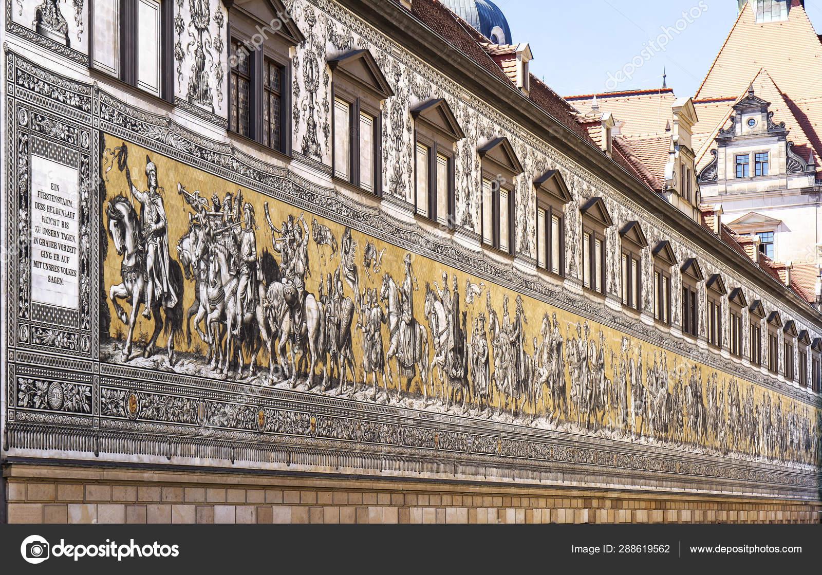 Peinture Murale Géante Furstenzug Décore Mosaïque Sur Mur