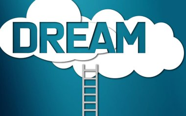 Ladder lead to dream word