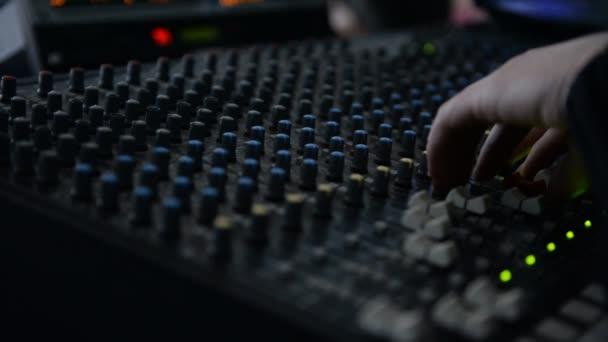 Club music mixer on a dark background