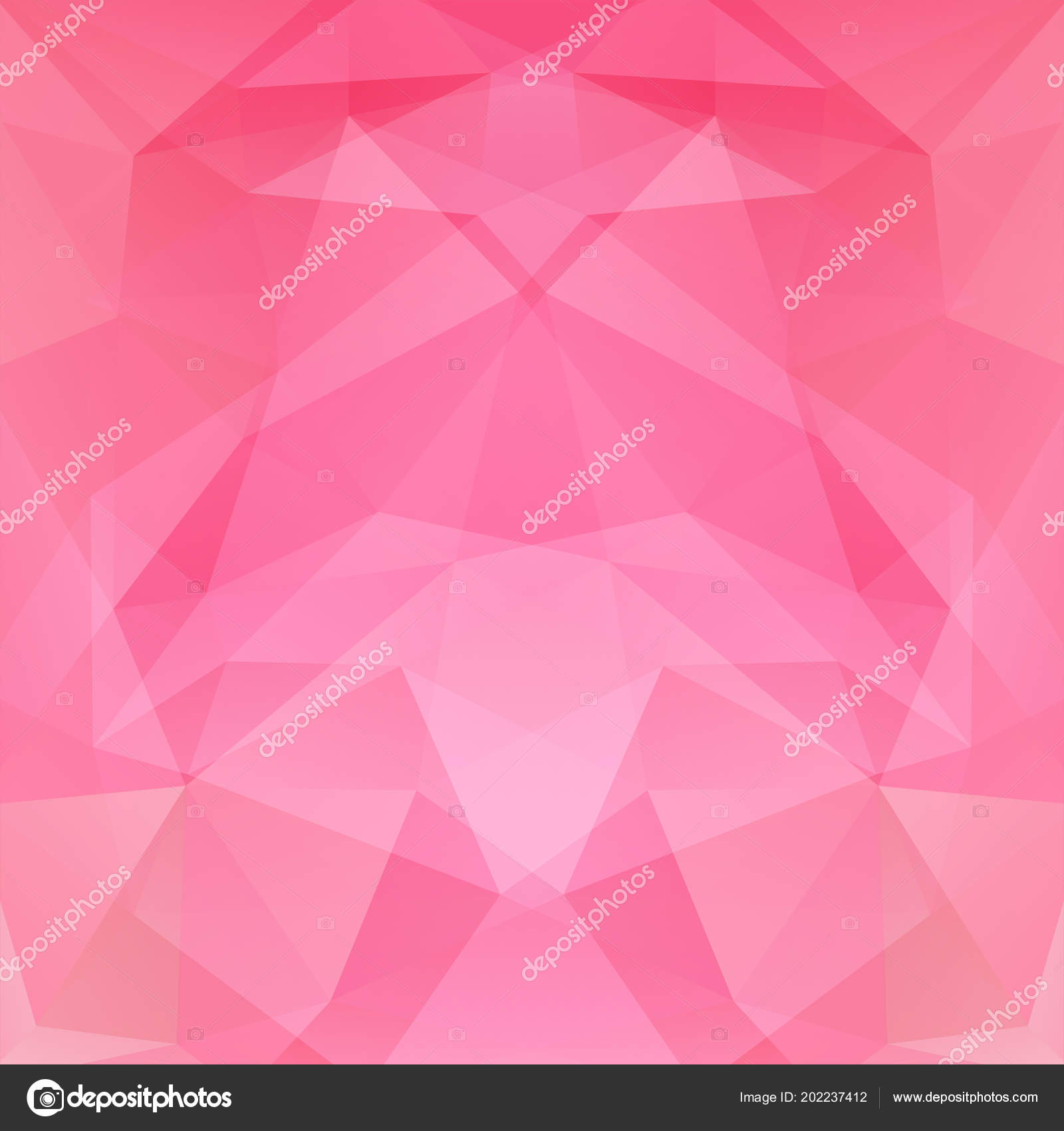 abstract background consisting pink triangles geometric design