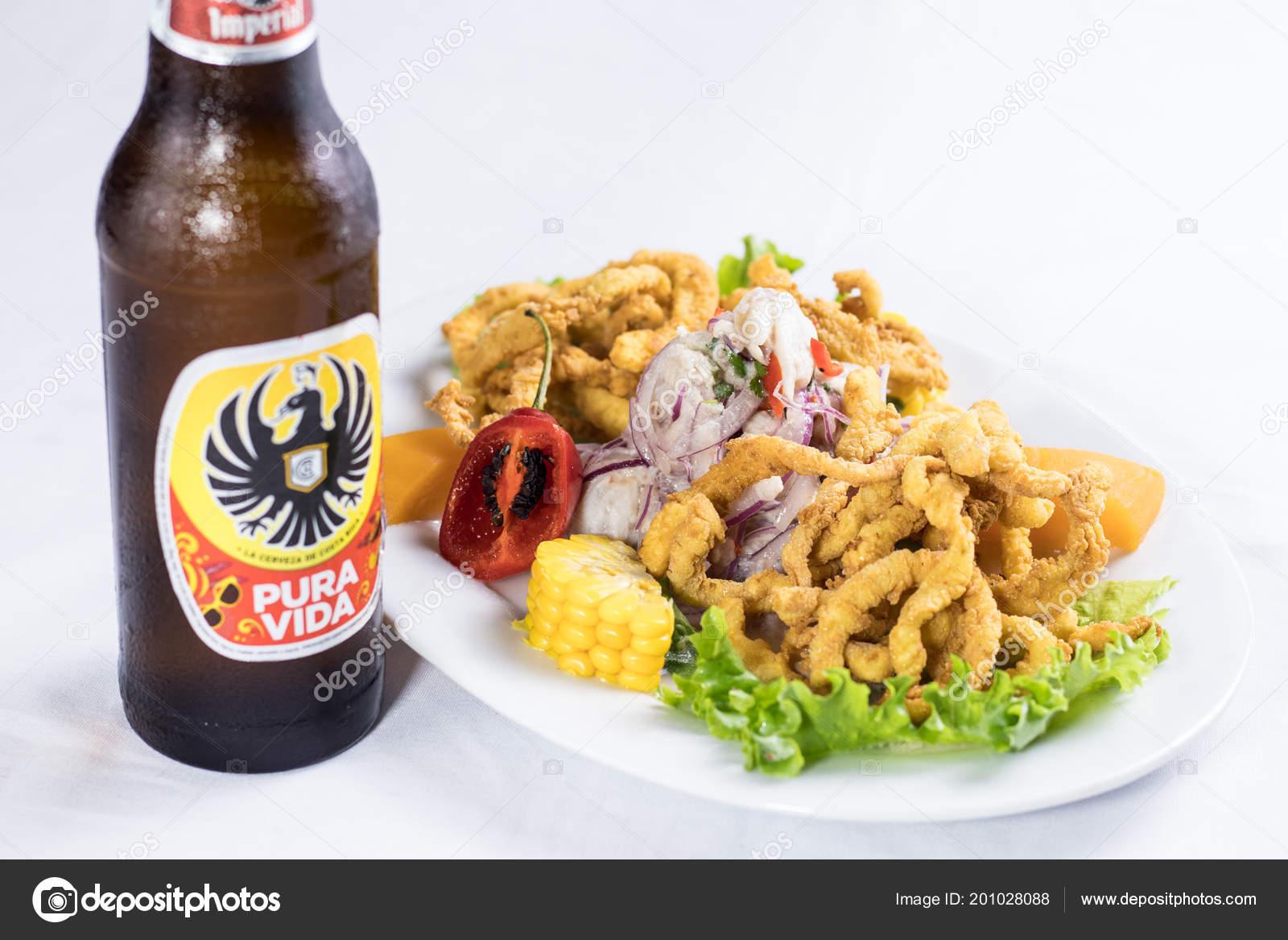 Peruvian Food Ceviche Pescado Con Calamar Con Cerveza Stock Photo Image By Denismantilla 201028088