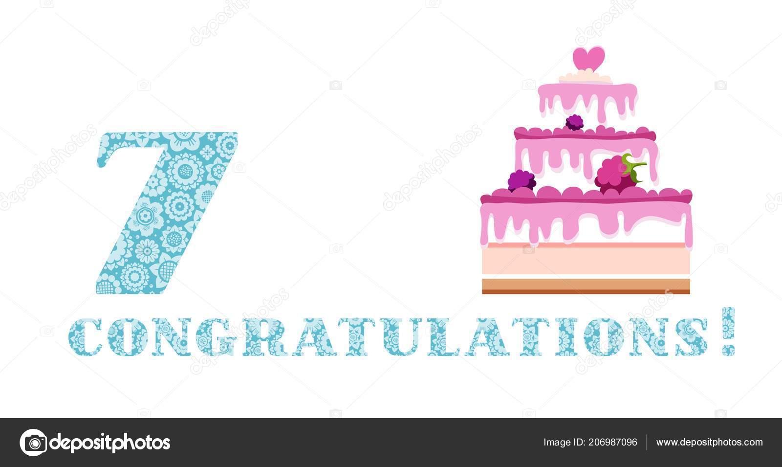 Geburtstag Grüße Beeren Jahre Kuchen Englisch Weiß Blau Vektor Alles ...