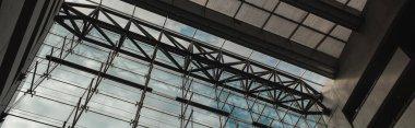 COPENHAGEN, DENMARK - APRIL 30, 2020: Horizontal image of glass facade and roof in Black Diamond Royal Library, Copenhagen, Denmark stock vector