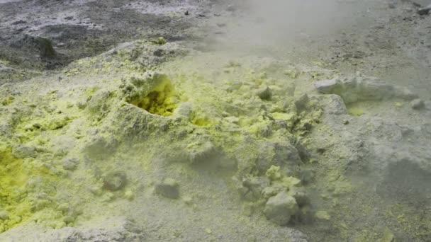 Smoking fumaroles in the Dallol Desert in Africa