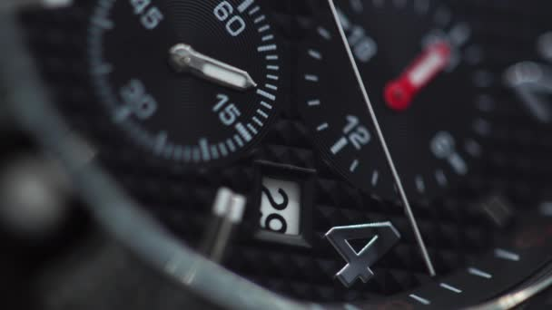 macro of black Dial wrist watches