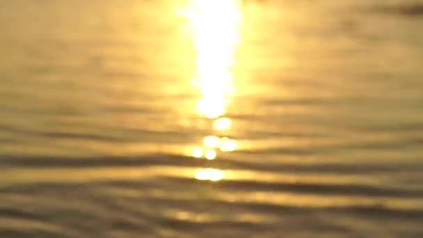 beautiful warm sunset at the sea