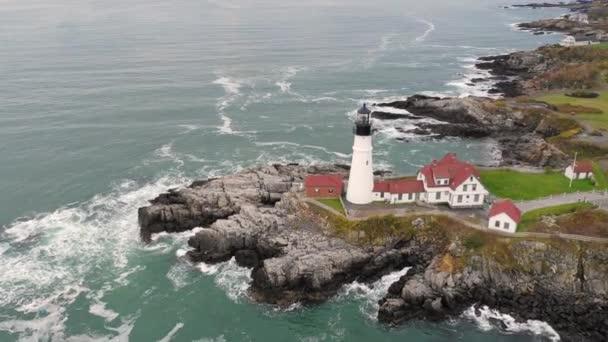 Slavný Portland Head Light Atlantické pobřeží maják