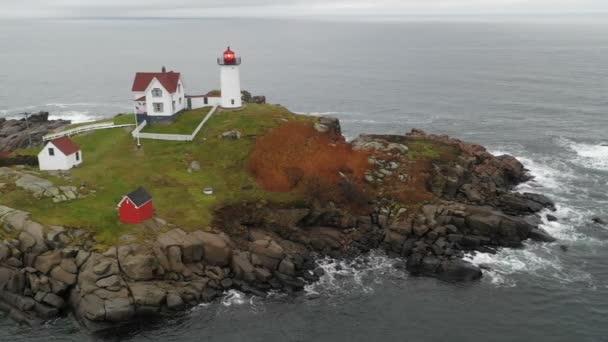 Cape Neddick Nubble Island Lighthouse Maine Küste Marine Licht