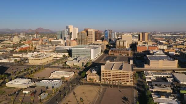 Légifelvételek át Phoenix Arizona belvárosi városi város Skyline