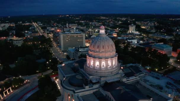 Jefferson City Missouri Capital Building Night Dome Lights