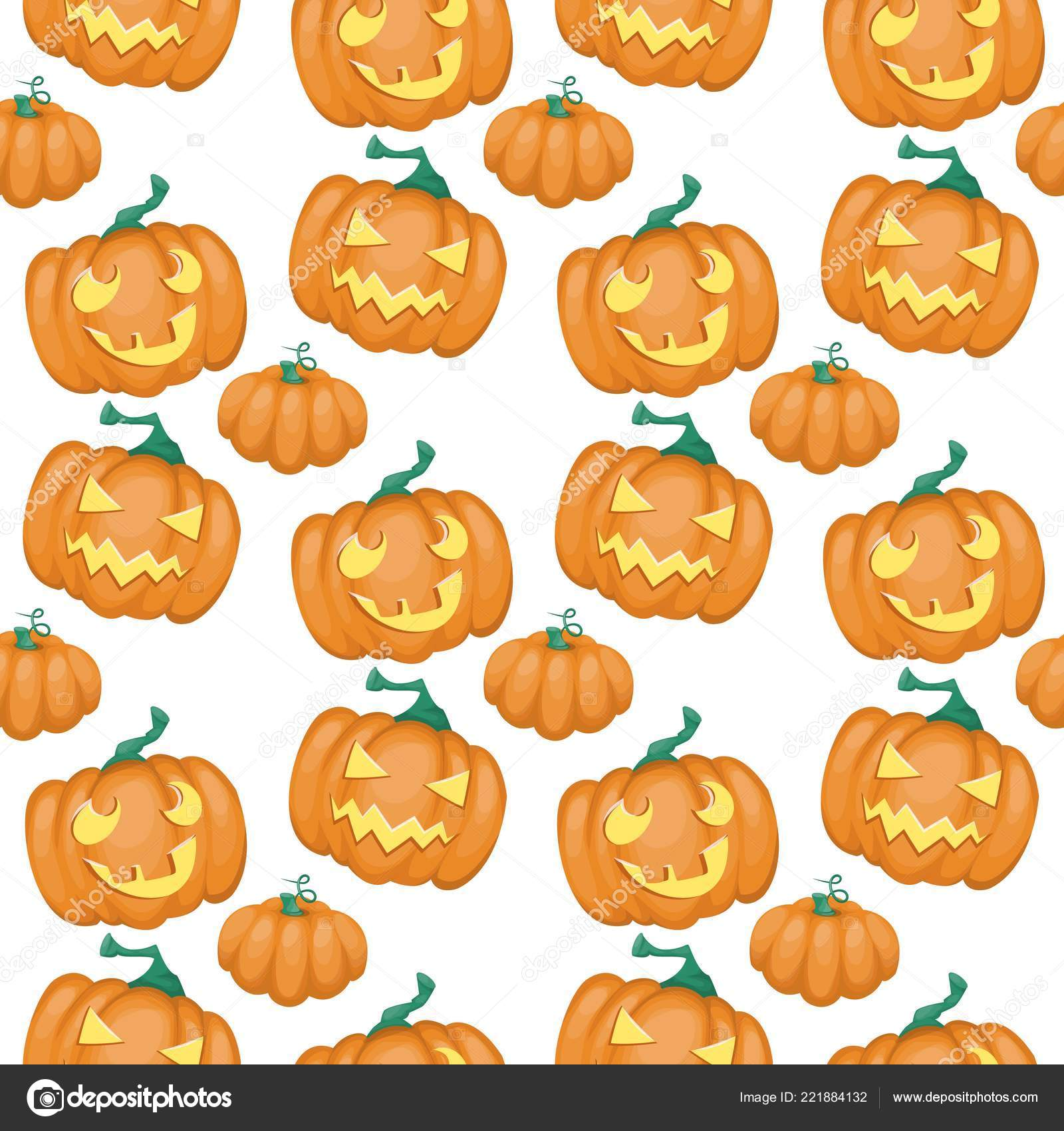 Background Trick Or Treat Wallpaper Seamless Pattern Pumpkin Happy Halloween Vector Illustration Scary Wallpaper Texture Stock Vector C Danyliuki 221884132
