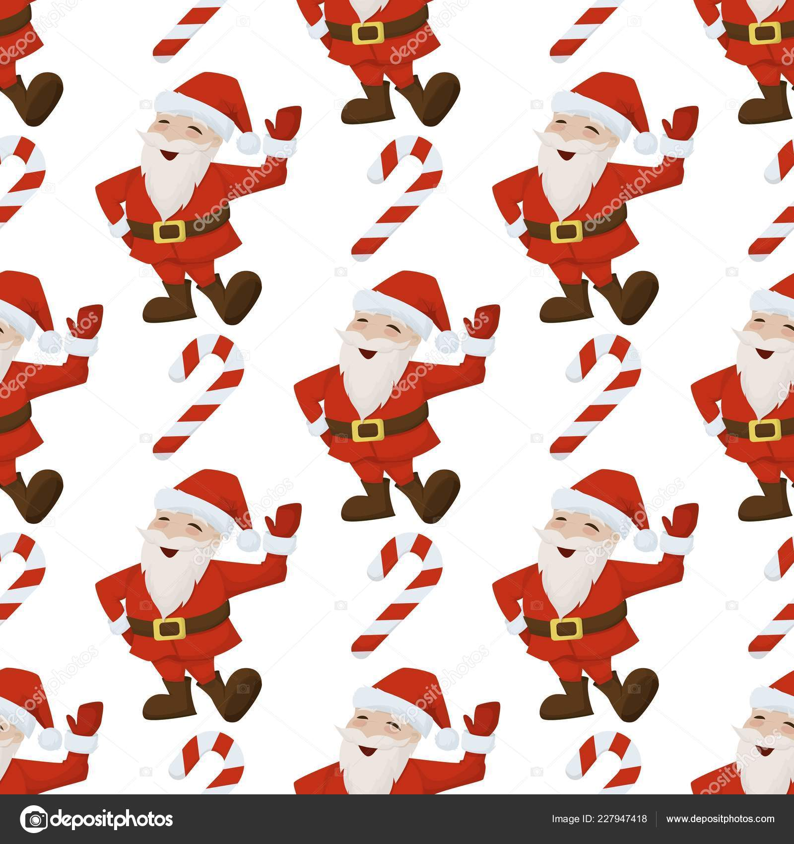 depositphotos 227947418 stock illustration christmas santa candy cane seamless