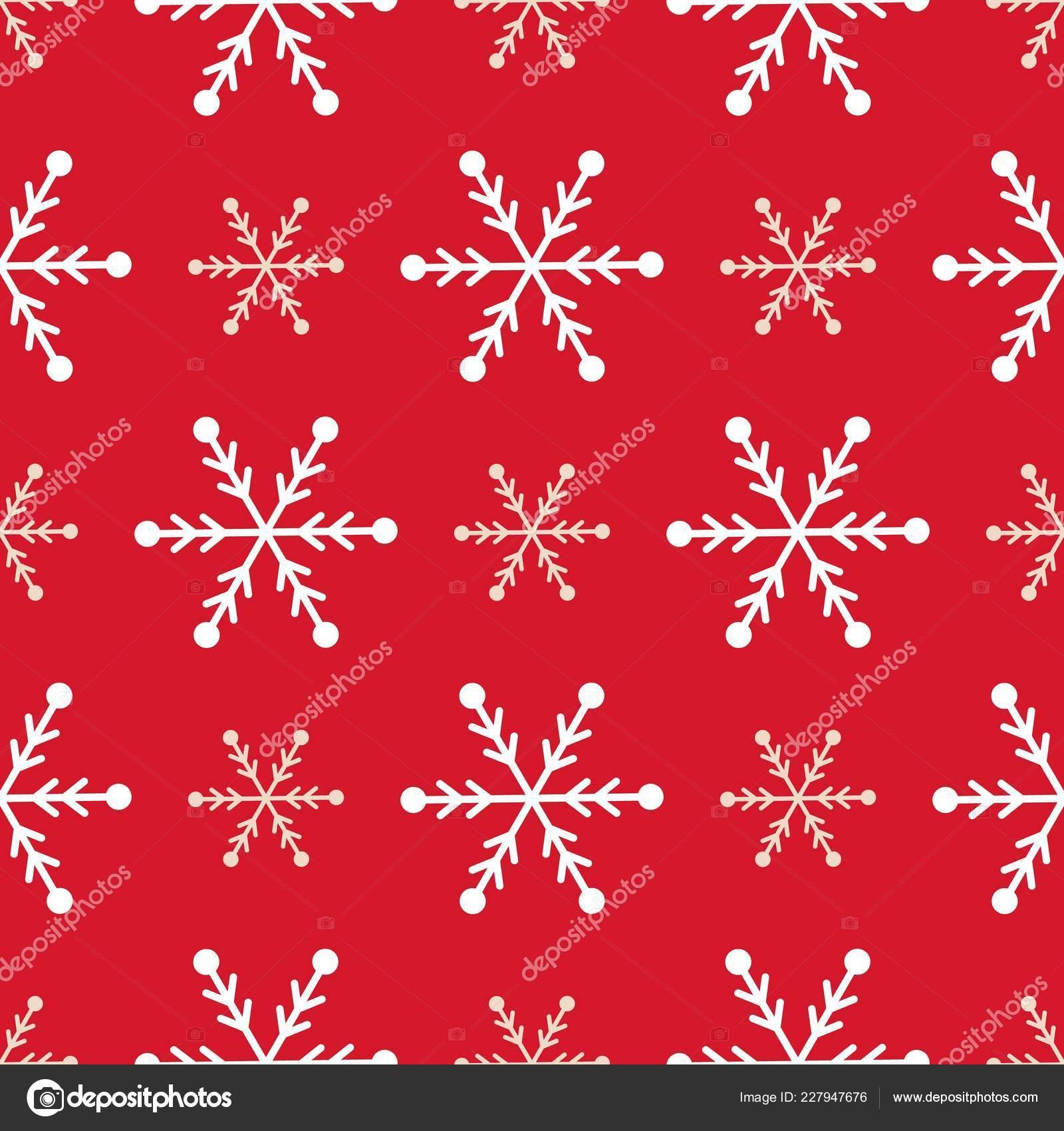 Christmas Snowflake Seamless Pattern Winter Holiday Gift Wrap Snow Background Stock Vector C Danyliuki 227947676