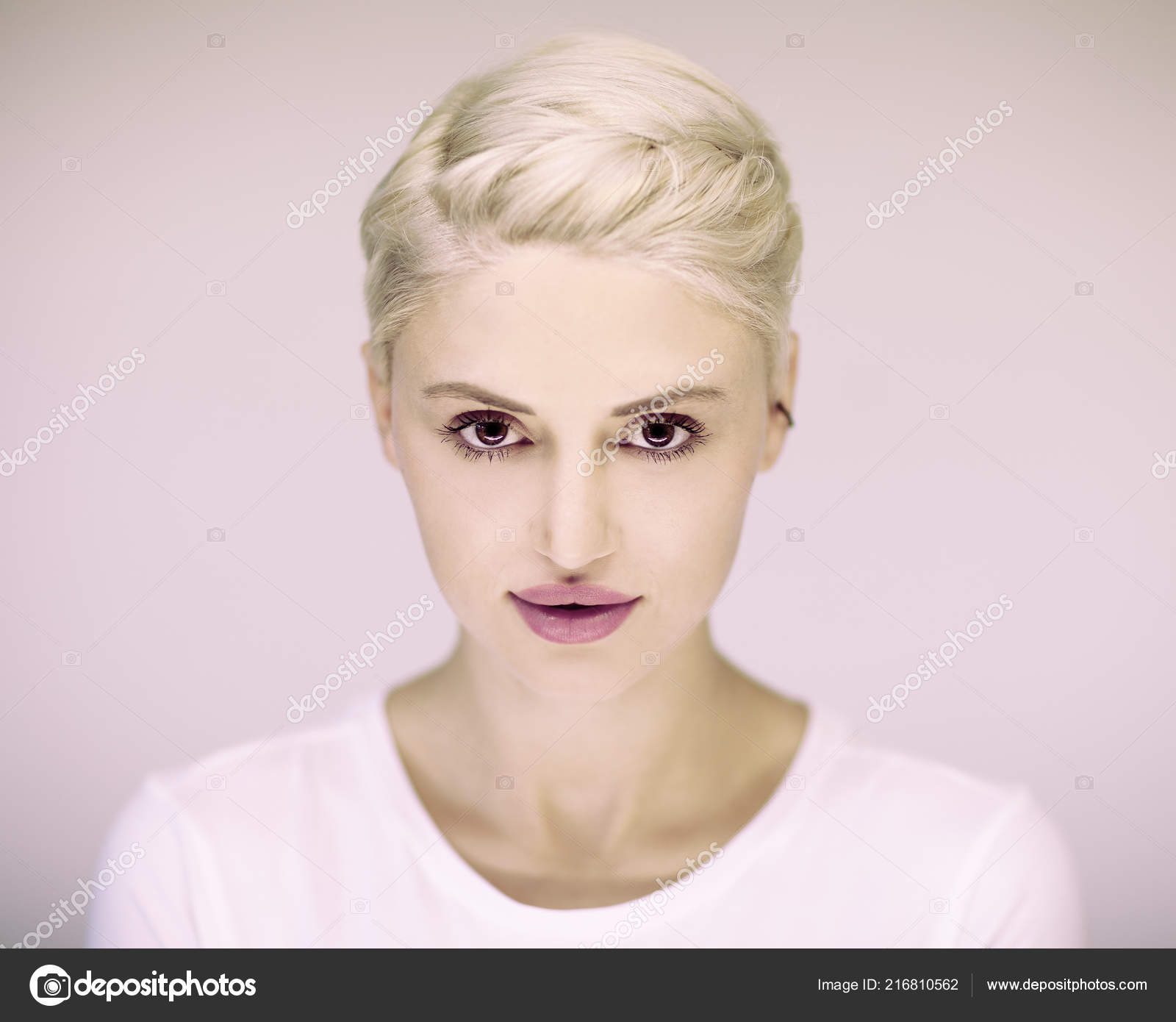 Short hair blonde german mature