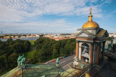 View from St. Isaac's Cathedral in St.Petersburg, Russia.