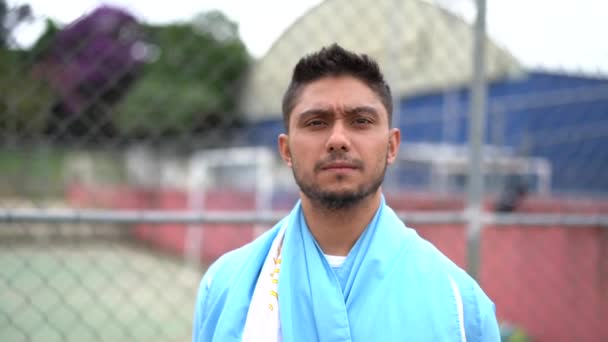 Argentinian soccer player portrait