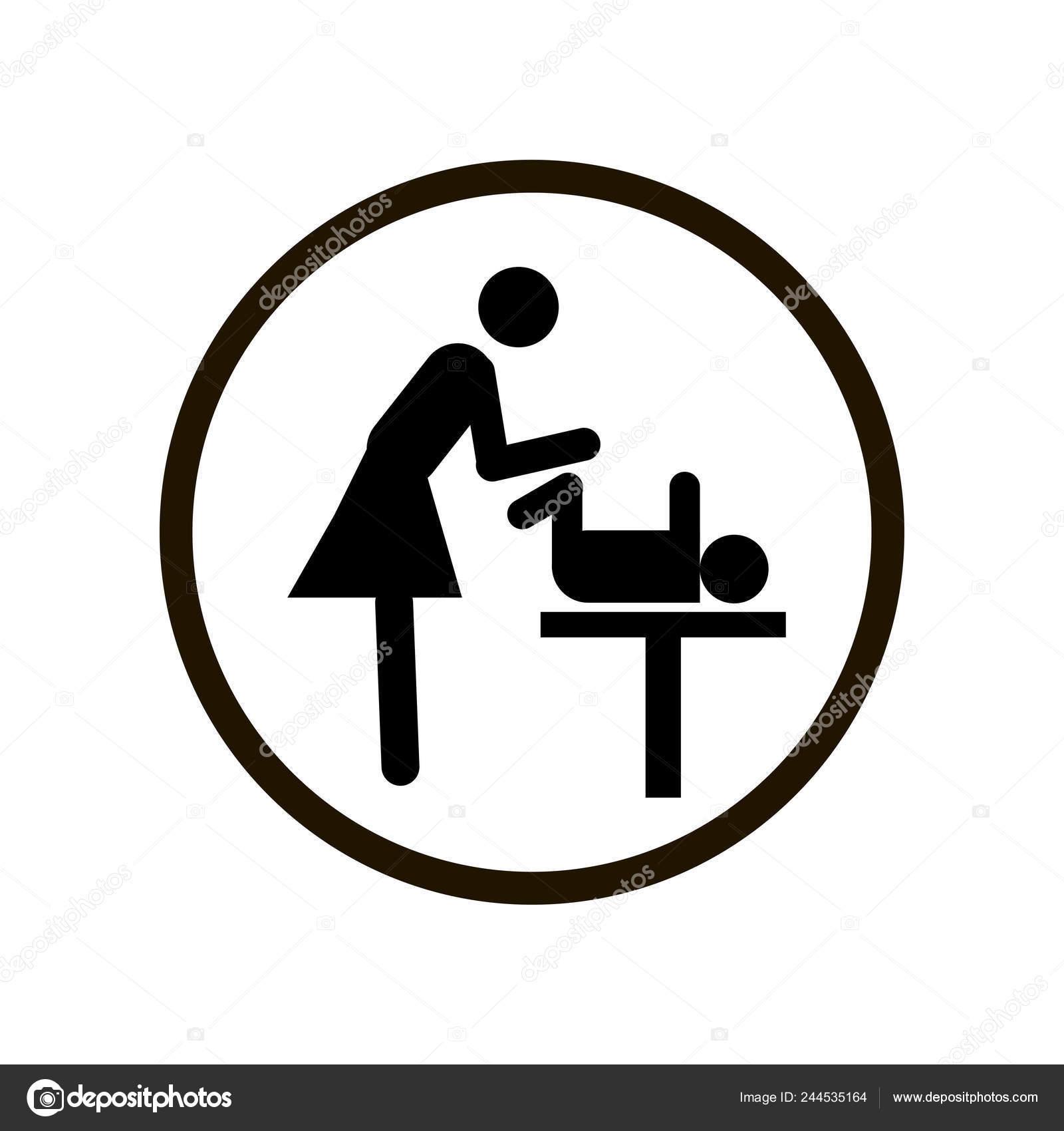 Table A Langer Signe Toilette Noir Mere S Salle Icone Dans