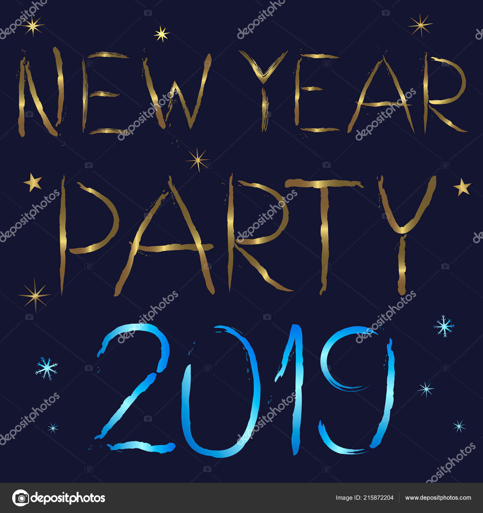 New Year Party 2019 Invitation Vector Stock Vector C Atherineme