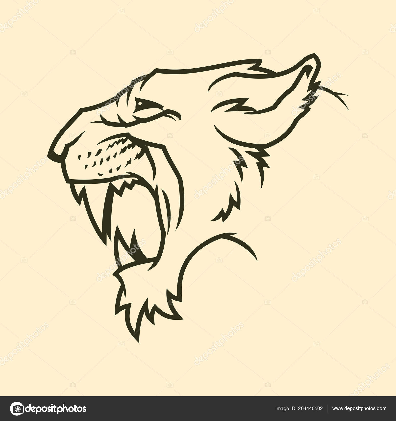 3a3478c9865 Cougar or panther head silhouette — Stock Vector © gala_che #204440502