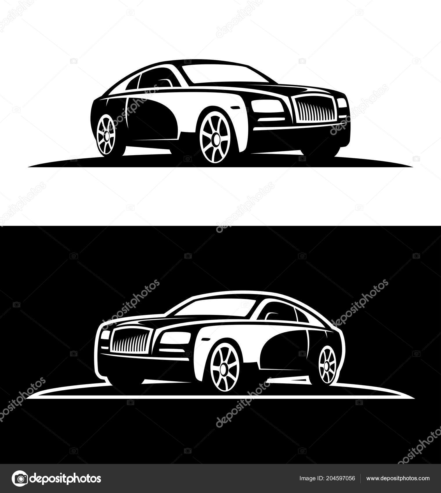 Luxury Car Silhouette Stock Vector C Gala Che 204597056