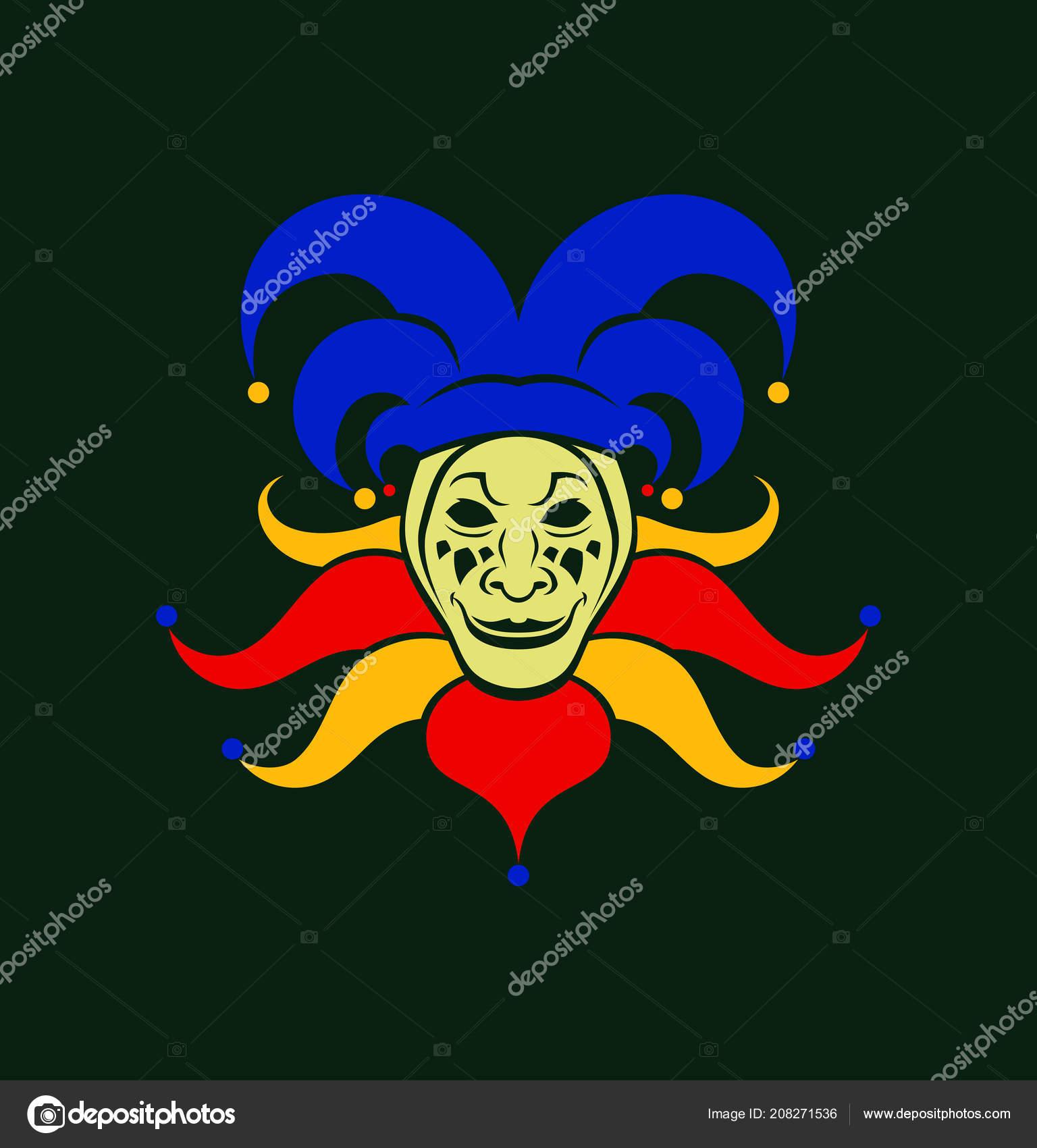 Cartoon Joker character in cap with bells — Stock Vector © gala_che