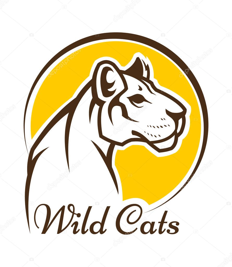 Cougar Mascot Sign Vector Outline Silhouette Of Wild Cat Panther Or Or Lioness Premium Vector In Adobe Illustrator Ai Ai Format Encapsulated Postscript Eps Eps Format Details and pride shine from this lion mascot costume, order yours today! cougar mascot sign vector outline