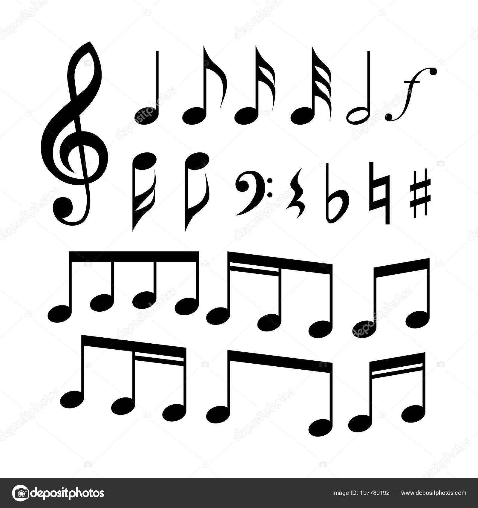 Clef Clef Music Notes Symbols Icon Set Music Signs Stock Vector