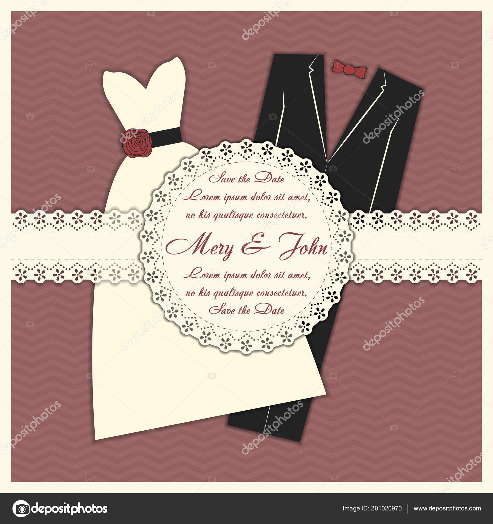 Wedding Invitation Template Card Editable Background Color