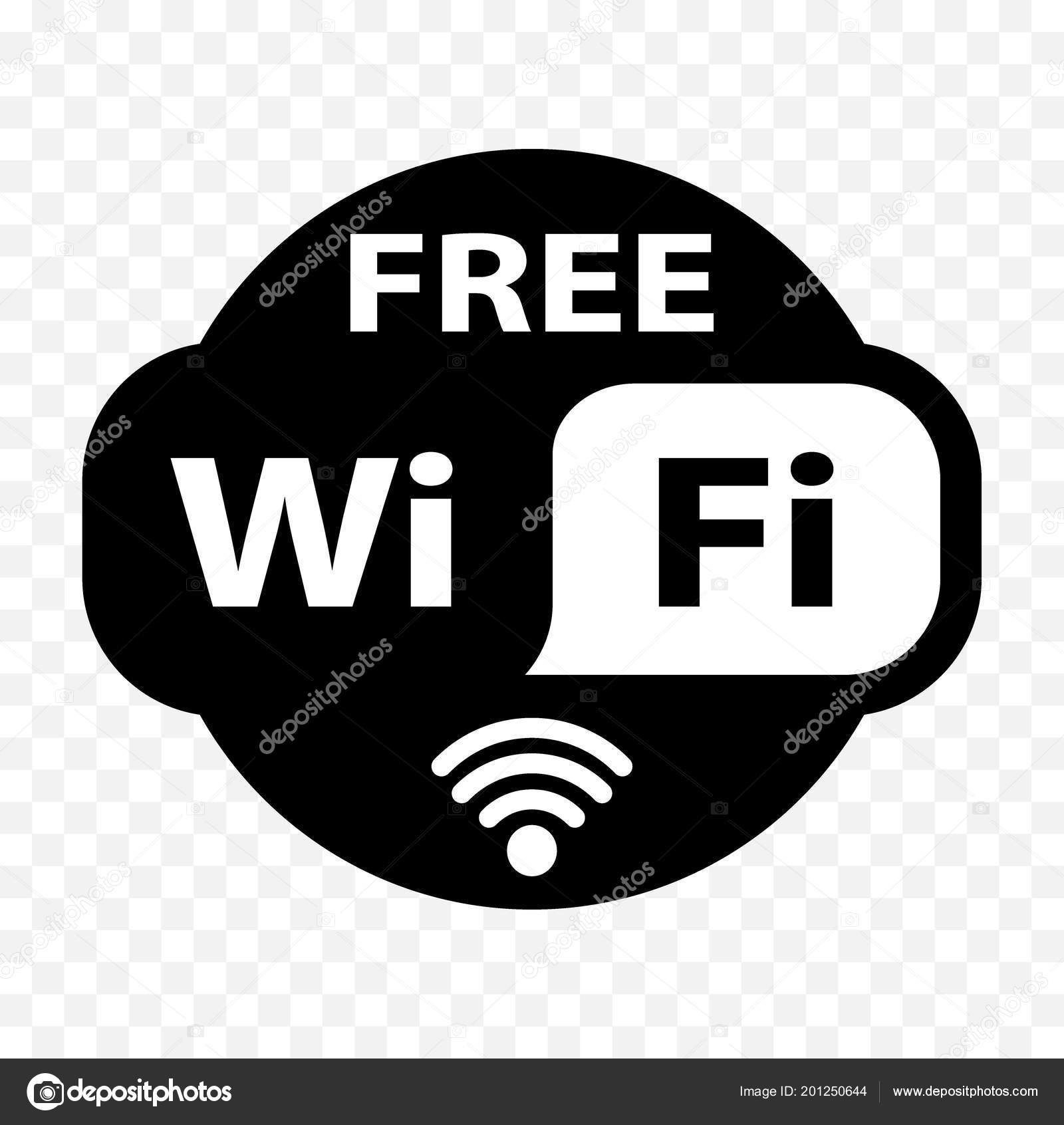 Free Wifi Sticker Free Icon Free Label Sign — Stock Vector