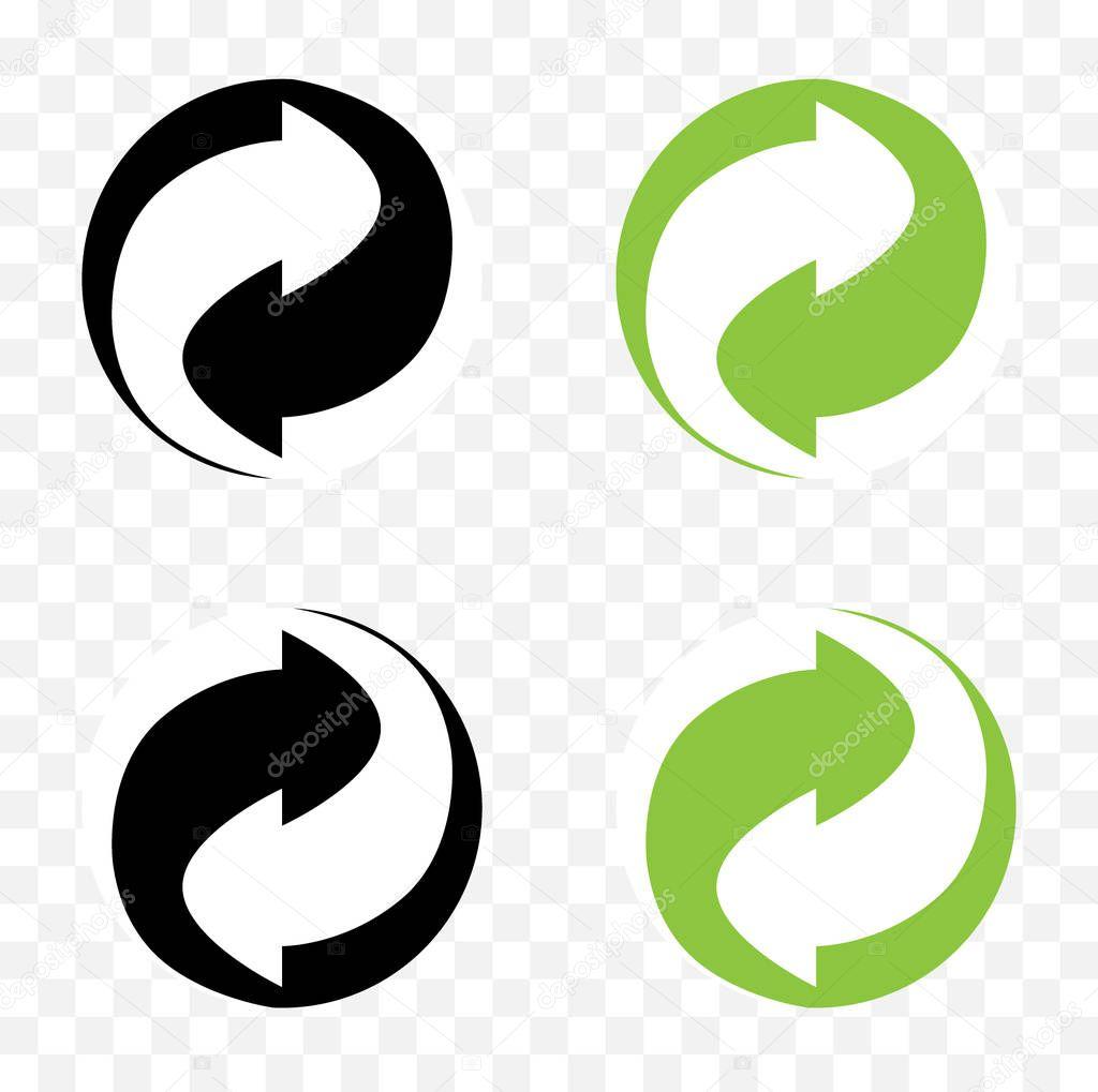 Yeşil Nokta Işareti Geri Dönüşüm Simgesi Simgesi Yeşil Nokta Işareti