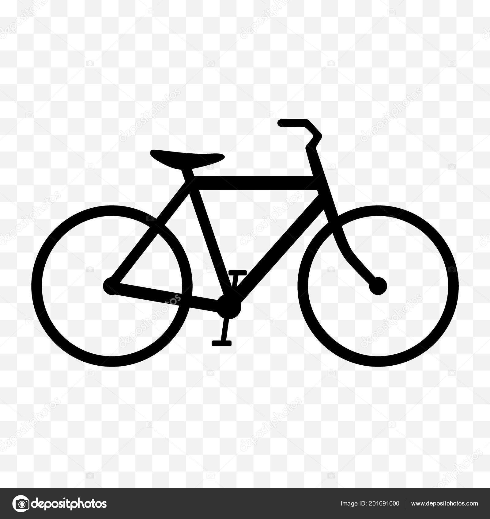 Icona Stilizzata Biciclette Siluetta Della Bicicletta Nera