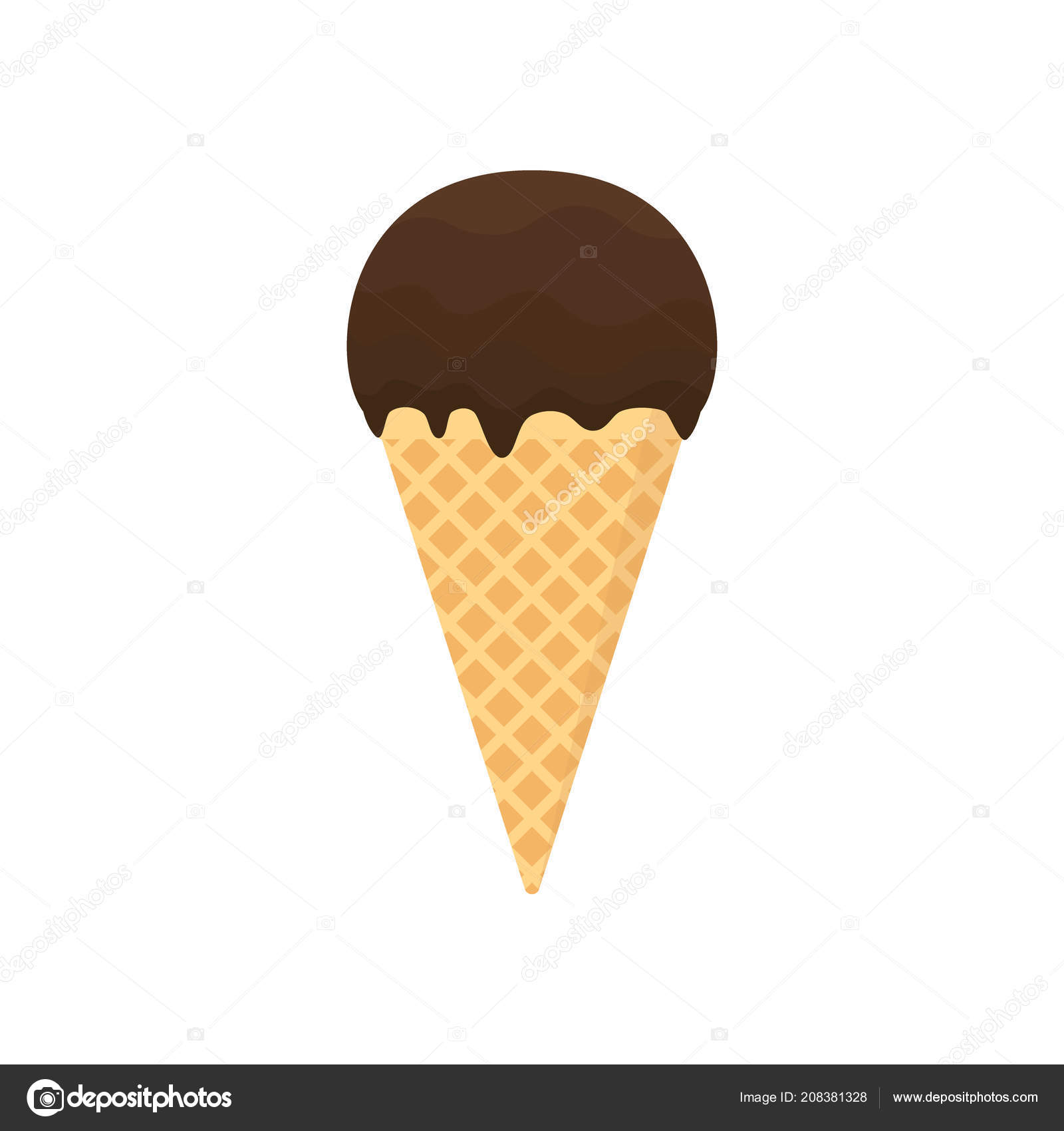 Clipart Chocolate Ice Cream Chocolate Ice Cream Glazed Cartoon Ice Cream Chocolate Topping Clipart Stock Vector C Tsvetinaiv 208381328