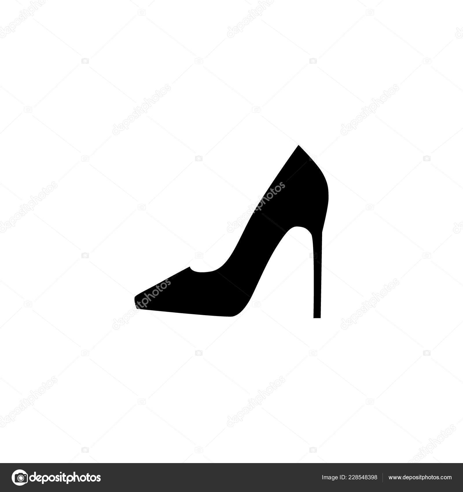 Weibliche High Heel Schuh Einfach Vektor Silhouette Frau