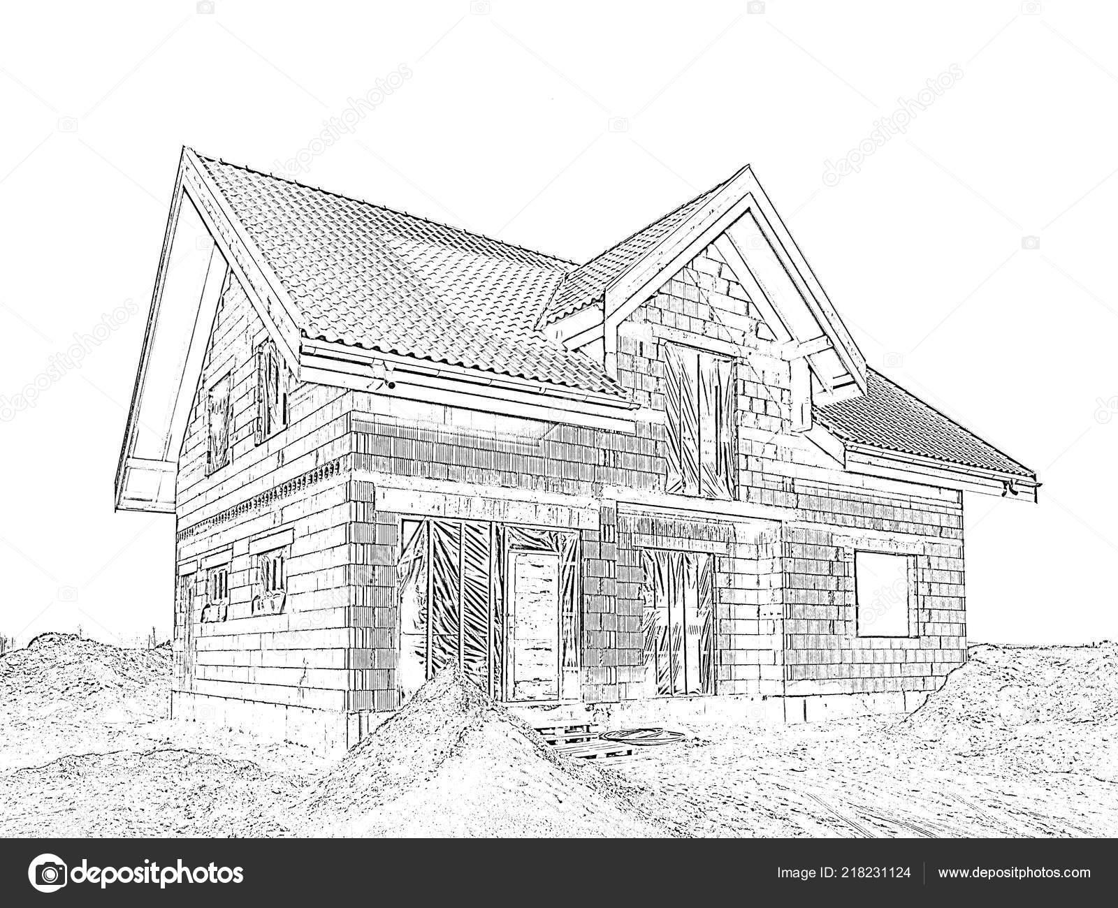 Maison Moderne Comme Projet Maison Rêve Dessin ...