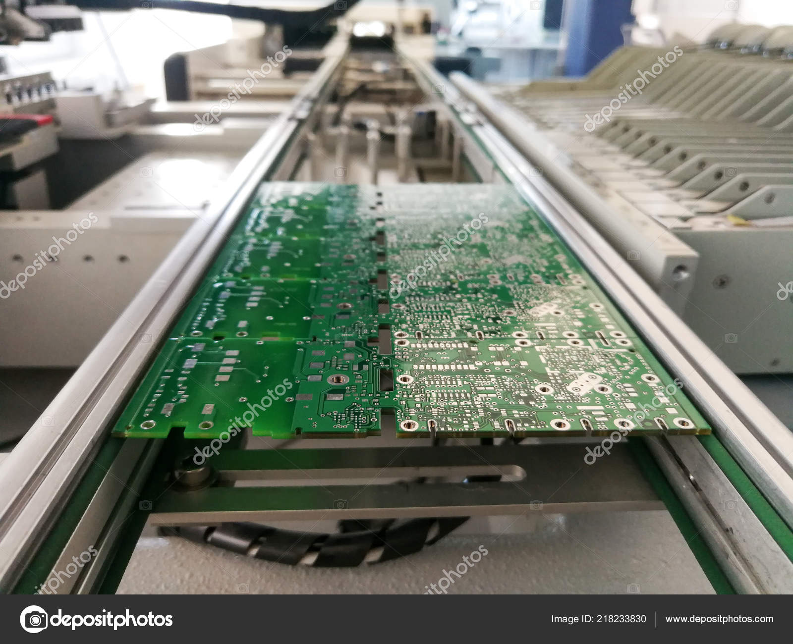 Printed Circuit Board Electronic Components Ready Assembly Stock Pcb Consists Of A Photo