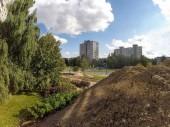 die Renovierungsarbeiten an der Zentralheizung in Kaunas, Litauen