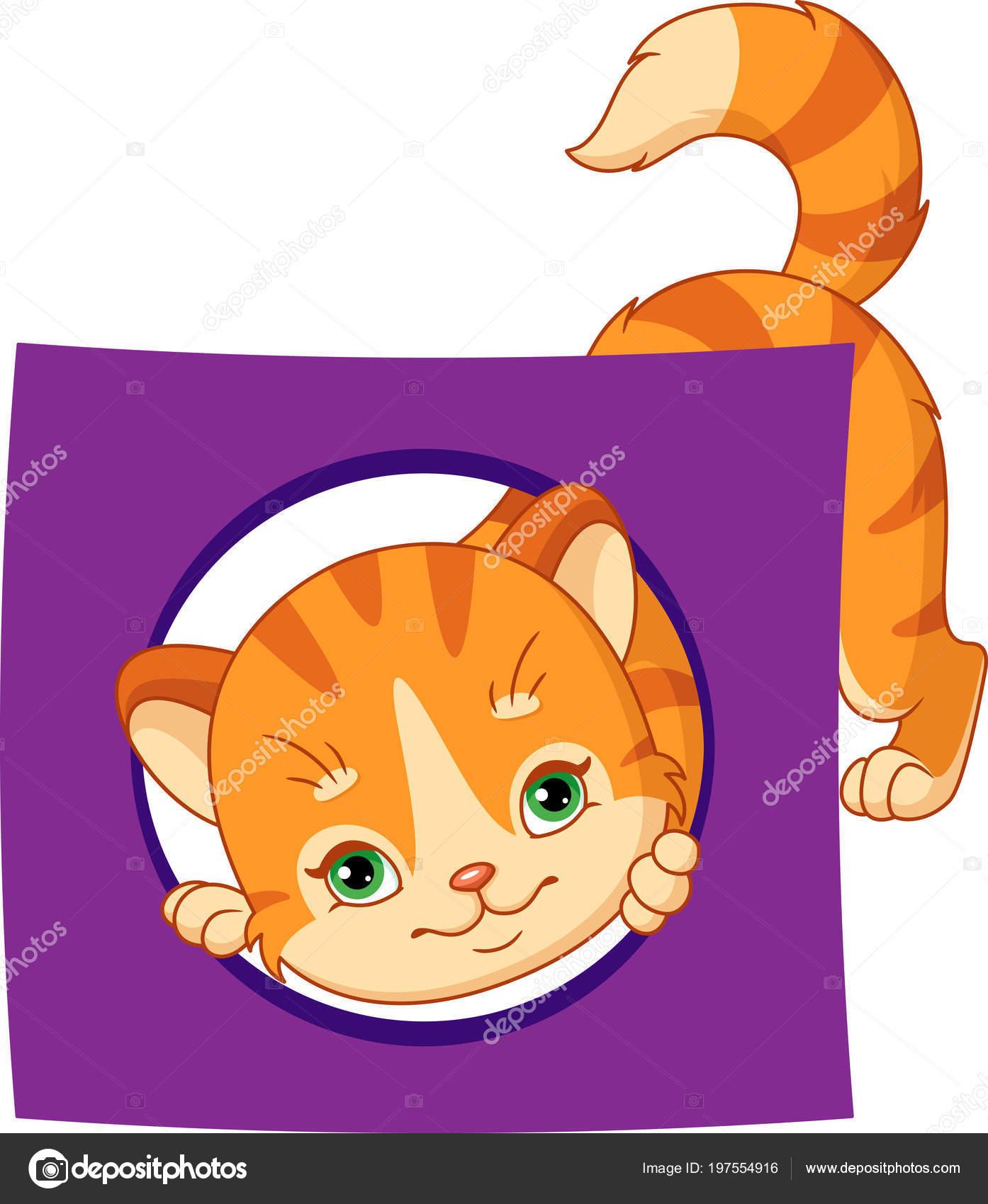 Kot Karty Kształtu Geometrycznego Koło Grafika Wektorowa Malyaka