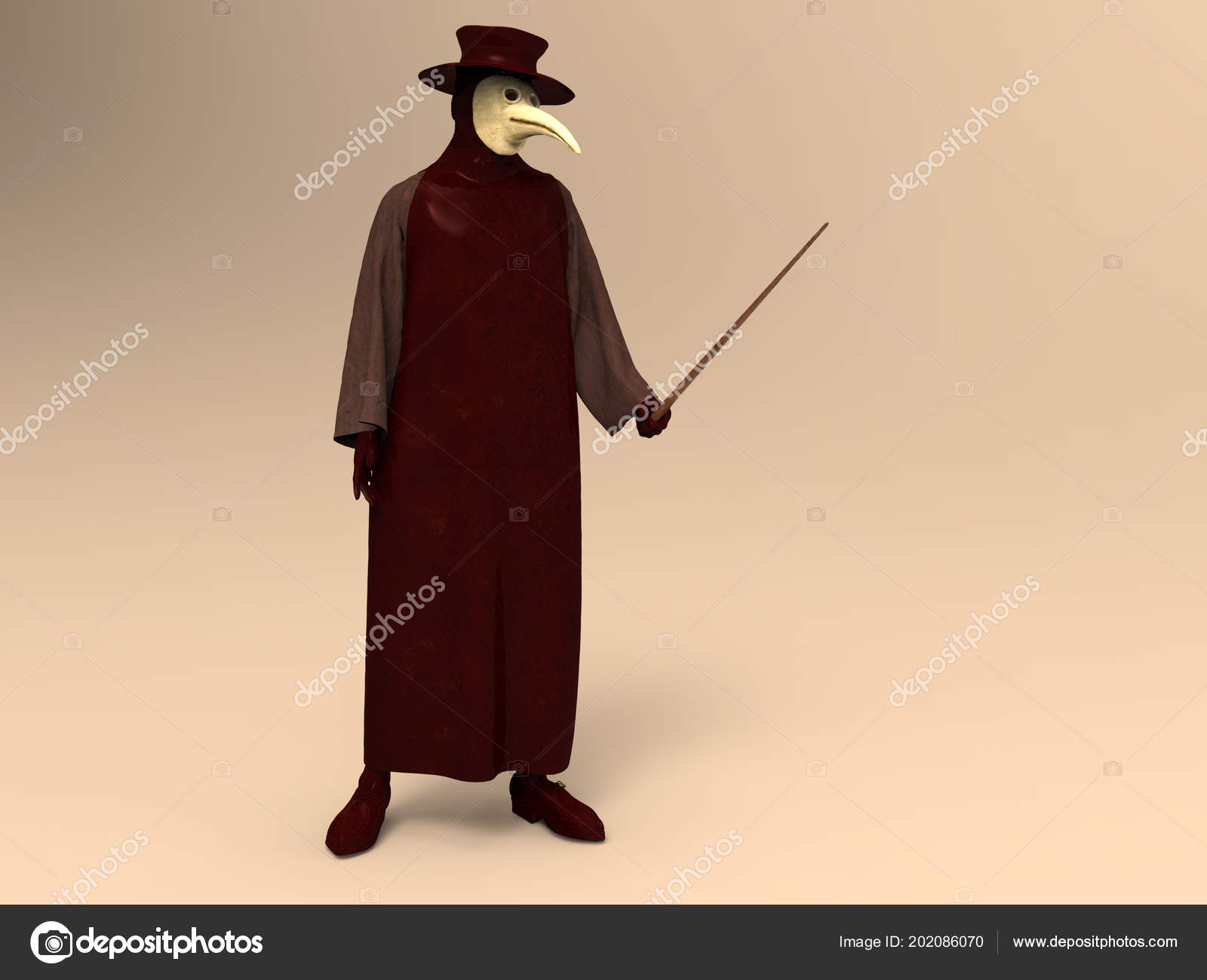 Illustration Plague Doctor Stock Photo Estebande 202086070