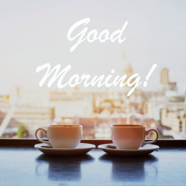 good morning city background