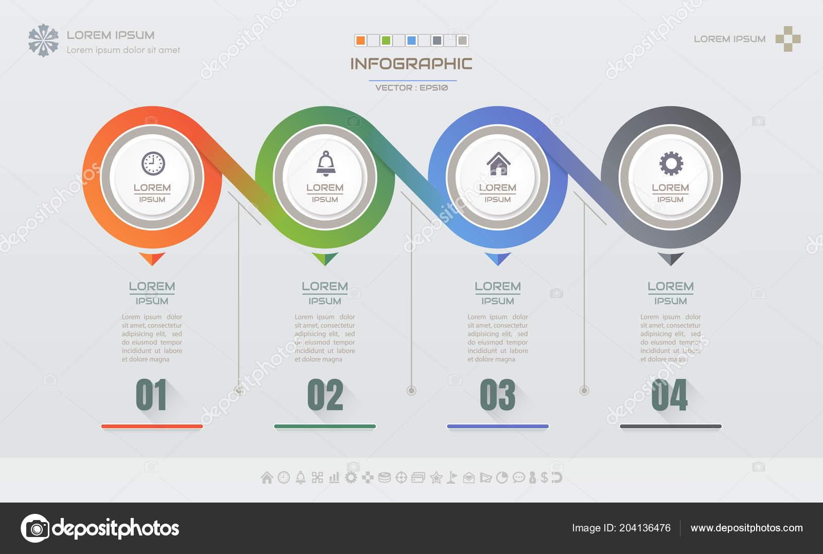Plantilla Diseño Infografías Con Los Iconos Diagrama Proceso Eps10 ...