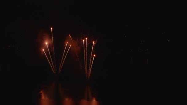 Fireworks Display Night Water