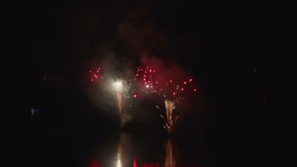 Fireworks Display Night Water