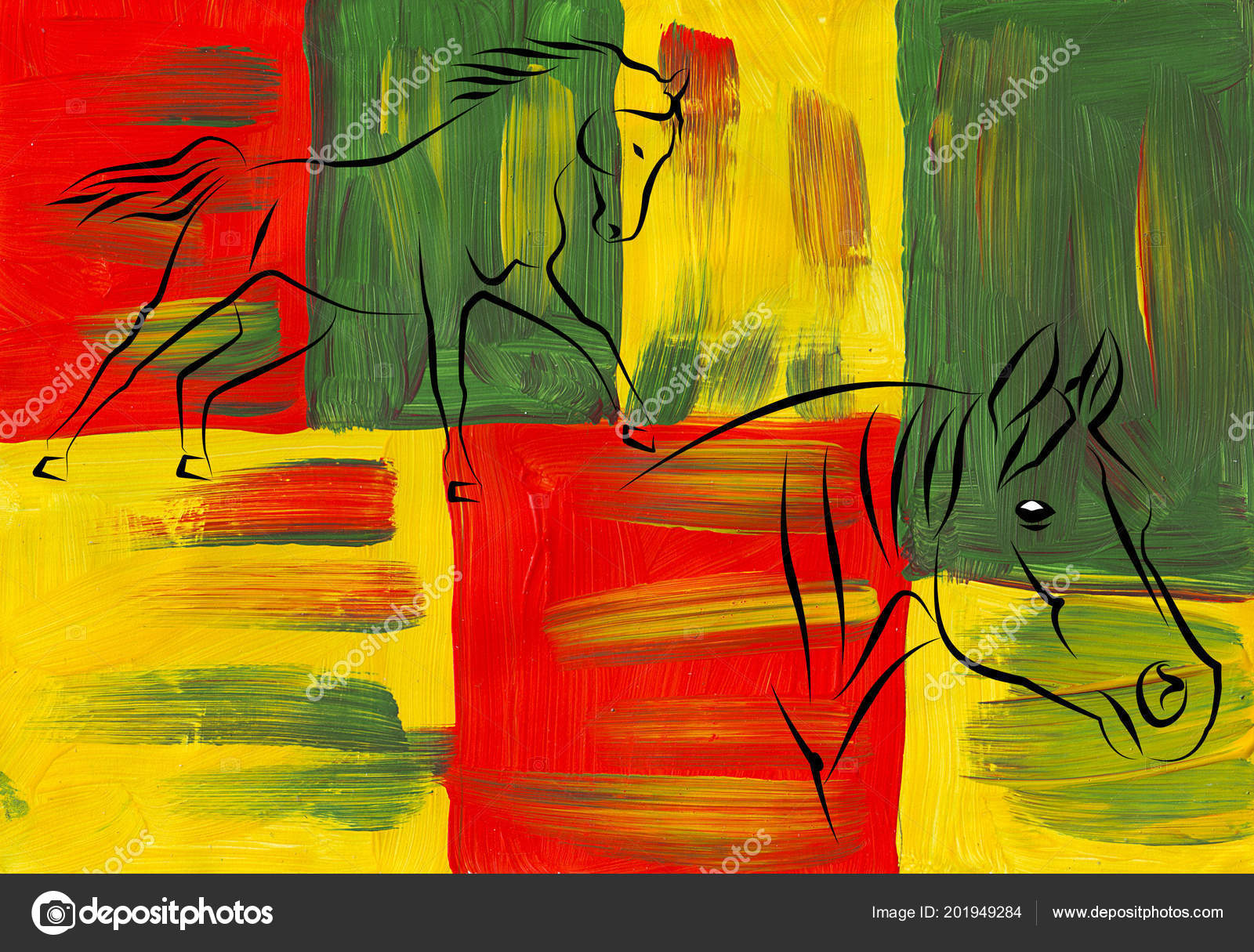 Horse Illustration Icon Art Design Stock Photo C Maxtor7777 201949284